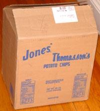 Jones' and Thomasson's Potato Chips box
