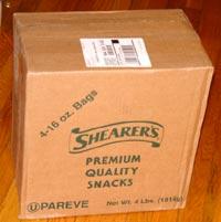 Shearer's Potato Chips box