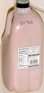 Garelick Fresh1 Lowfat Chocolate Milk, half-gallon, rear view