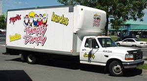 Humpty Dumpty potato chips delivery truck