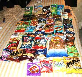Snacking highlights of Keith and Melissa's chip trip to London