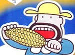 Meiji mascot enjoys some corn