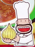 Meiji Onion Soup Puffs mascot