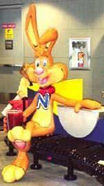 Nesquik Bunny statue
