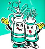 Old Dutch salt & vinegar mascots