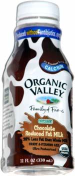 Organic Valley Chocolate Reduced Fat Milk (single-serve)