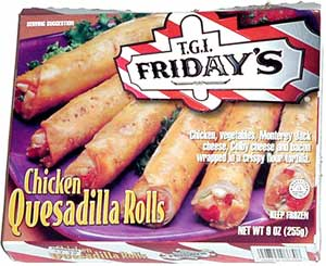 TGI Friday's Chicken Quesadilla Rolls
