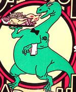 Terrell's Dinosaur mascot