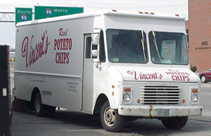 Vincent's Potato Chips truck