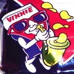 Vitner's Vinnie the saxophone-playing bag of chips mascot