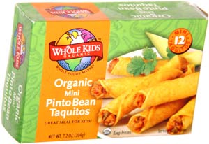 Whole Kids Organic Mini Pinto Bean Taquitos
