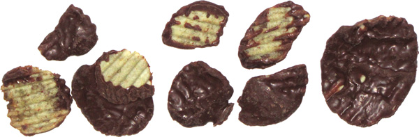 photo of Lay's Wavy Original Potato Chips Dipped in Milk Chocolate