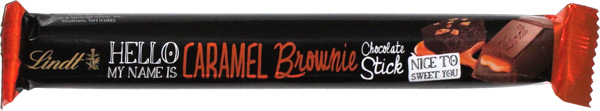 photo of Hello My Name Is Caramel Brownie Chocolate Stick