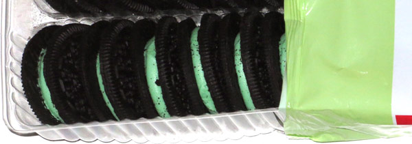 photo of Market Pantry Double Filled Mint Crème Sandwich Cookies
