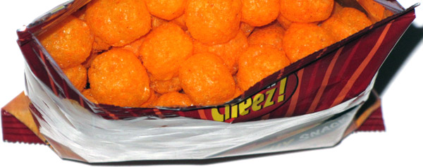photo of Mr. Topper's Cheez Balls Hot 'n Spicy