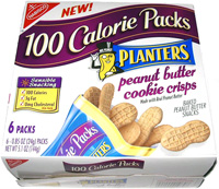 100 Calorie Packs Planters Peanut Butter Cookie Crisps