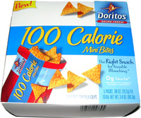 Doritos Nacho Cheese 100 Calorie Mini Bites
