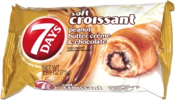 7 Days Soft Croissant Peanut Butter Creme & Chocolate