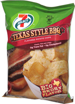 7 Select Texas Style BBQ Potato Chips