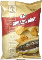 7 Select Grilled Brat Kettle Style Potato Chips