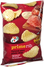 7 Select Prime Rib Flavored Wavy Potato Chips