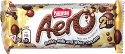 Nestle Aero 2 in 1 Bubbly Milk and White Chocolate