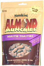 Sunkist Almond Munchies Roastie Toasties