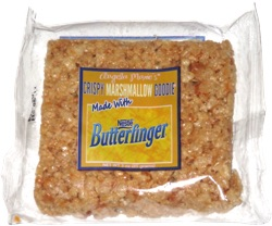 Angela Marie's Crispy Marshmallow Goodie Made with Nestle Butterfinger