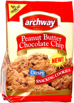 Archway Peanut Butter Chocolate Chip Crispy Snacking Cookies