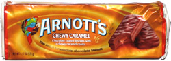 Arnott's Chewy Caramel Chocolate Coated Biscuits