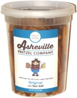 Asheville Pretzel Company Handcrafted Artisan Hard Pretzels Original with Sea Salt