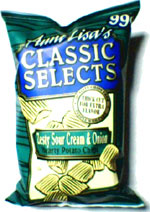 Aunt Lisa's Classic Selects Zesty Sour Cream & Onion Potato Chips