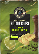 Red Rock Deli Lime & Black Pepper Deli-Style Potato Chips