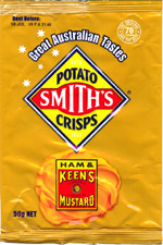 Smith's Potato Crisps Ham & Keen's Mustard