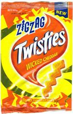 Twisties Zigzag Wicked Cheddar