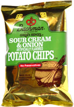 Bachman Golden Ridges Sour Cream & Onion Potato Chips