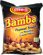Bamba Peanut Snack with Hazelnut Cream Filling