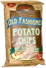 Barrel o' Fun Old Fashioned Potato Chips 40% Reduced Fat Thick Cut