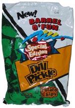 Barrel o' Fun Special Edition Flavor Dill Pickle Potato Chips