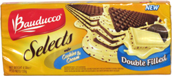 Bauducco Selects Wafer Cookies & Cream Double Filled