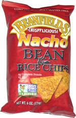 Beanfields Crispylicious! Bean & Rice Chips Nacho
