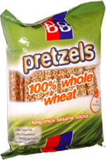Beigel & Beigel Pretzels 100% Whole Wheat Long Thick Sesame Sticks