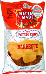 Better Made Special Real Potato Chips Barbeque Flavored