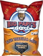 Big Papi's Blue Tortilla Chips