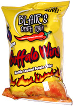 Blair's Death Rain Medium Buffalo Wing Kettle Cooked Potato Chips