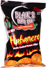 Blair's Death Rain XXX Hot Habanero Kettle Cooked Potato Chips