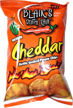 Blair's Death Rain Cheddar Kettle Cooked Potato Chips