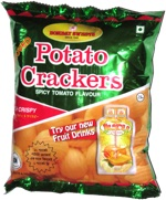 Bombay Sweets Potato Crackers Spicy Tomato Flavor