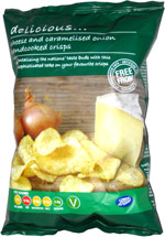Boots Cheese and Carmelised Onion Handcooked Crisps