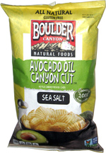 Boulder Canyon Natural Foods Avocado Oil Canyon Cut Kettle Cooked Potato Chips Sea Salt